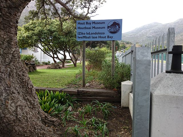 New sign board at Hout Bay Museum. You won't get lost