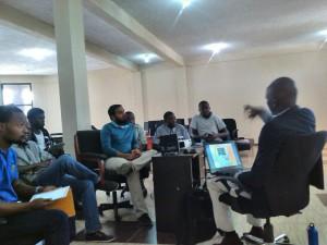 Presenting at the Mhub, Lilongwe, Malawi
